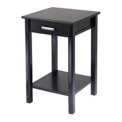 Winsome Wood - Liso End Table with Drawer and Shelf - Our Liso End Table with Drawer and Shelf from the coordinated Liso line of home office furniture is made from combination of solid and composite wood and finished in matte Espresso color.
