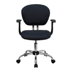 Flash Furniture - Flash Furniture Office Chairs Mesh Task Chairs X-GG-SMRA-YG-F-6732-H - This value priced mesh task chair will accommodate your essential needs for your home or office space. This chair will add a splash of color to your office for a non-traditional look. Chair features a breathable mesh material with a comfortably padded seat. [H-2376-F-GY-ARMS-GG]