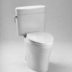 Toto Eco Nexus Elongated Toilet 1.28 GPF ADA CST794EF - Decorative close coupled two piece toilet