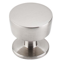 "Top Knobs - Knob 1 3/16"" - Brushed Satin Nickel - ,Width - 1 3/16"",Projection - 1 1/16"",Base Diameter - 1"""