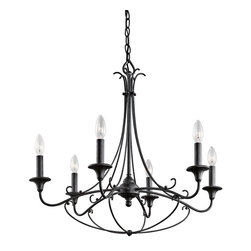 Kichler Lighting - Kichler Lighting Basel Rustic / Lodge / Log Cabin Country Chandelier X-KBD45434 - Kichler Lighting Basel Rustic / Lodge / Log Cabin Country Chandelier X-KBD45434
