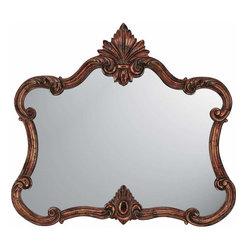 Paragon - Paragon Aged Copper Pediment  by Mirrors  - 40 X 44 - Title Paragon Aged Copper Pediment  by Mirrors  - 40 X 44