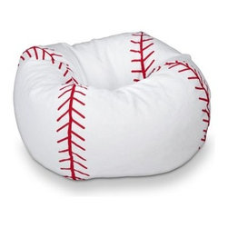 Ace Bayou Baseball Bean Bag Chair - If you don't want to spring for the glove chair and baseball ottoman, how about this baseball beanbag?