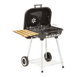 "Kay Home Products - Deluxe Covered Brazier Charcoal Grill with Shelf - 22"" - Portable Charcoal Brazier Grill.Features:"