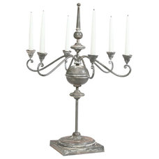 traditional candles and candle holders by Ethan Allen