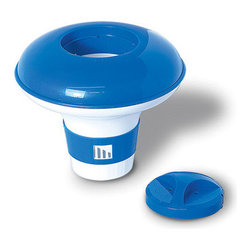 """Blue Wave - Blue Wave Large Floating Pool Dispenser - Floating chlorine dispenser. Large capacity floating chlorinator holds up to 3 lbs of chemicals. For use with 1"""" or 3"""" chlorine tabs and has an adjustment ring to control the feed rate. Made of U.V. - resistant plastic for many seasons of use."""