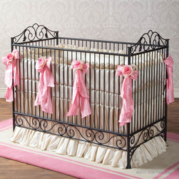 Casablanca Iron Crib in Slate by Bratt Decor - Casablanca Crib in Slate by Bratt Decor