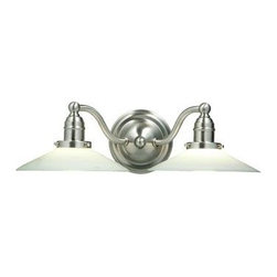 Hudson Valley - 2 Light Bath BracketHadley Collection - Reminiscent of swinging benches and the Old South, Hadley draws inspiration from the welcoming porch lights of a bygone general store. Cast metal construction gives depth to the dome-shaped backplate. The vintage quality of Hadley's design shows in the