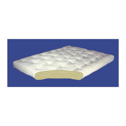 Gold Bond Futon - All Cotton Futon Mattress (8 in. - Queen: 60 - Choose Size: 8 in. - Queen: 60 W x 80 D (50 lbs.)An ideal starter futon mattress. 5 year warranty. Made from 100% Joy cotton battingGold Bond stands today as one of the world's top manufacturers of quality futon mattresses, with dealers in 49 states and dozens of countries around the world. Why? Because we revolutionized the futon mattress. And no one can match our standards for quality materials, craftsmanship, durability and value. From our simple all-cotton pads to the extraordinary Visco and innerspring models, a Gold Bond is the ultimate choice in futon mattresses.