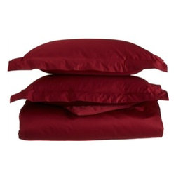 1200 Thread Count Egyptian Cotton King/Cal-King Burgundy Solid Duvet Set - 1200 Thread Count King/California King Burgundy Solid Duvet Set 100% Egyptian Cotton