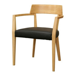 Wholesale Interiors - Baxton Studio Laine Modern Dining Chair - Set of 2 - The simple design and sleek curved back of these understated dining chairs pair well with the table of your choice for a clean and somewhat rustic look.