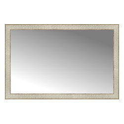 """Posters 2 Prints, LLC - 38"""" x 25"""" Libretto Antique Silver Custom Framed Mirror - 38"""" x 25"""" Custom Framed Mirror made by Posters 2 Prints. Standard glass with unrivaled selection of crafted mirror frames.  Protected with category II safety backing to keep glass fragments together should the mirror be accidentally broken.  Safe arrival guaranteed.  Made in the United States of America"""