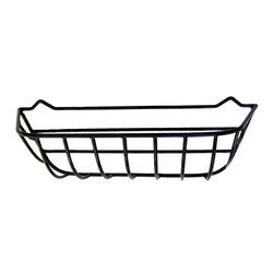 "Garden Artisans, LLC - Wrought Iron Window Hayrack Planters, 24"" - Heavy-duty wrought iron window box crafted from steel and coated with a thick, black plastic to ensure long life.  This hayrack planter is rounded on the front and sides and blends well with many different types of home styles.  Each window hayrack comes with a molded coco fiber liner.  Replacement liners available."