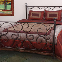 None - Rosette Full-size Bed - Add simple elegance to your bedroom with this bronze full-size metal bed. The posted design and ornate scrollwork of this bed combine to make it at once traditional and unique,and it is sure to bring warmth and style into your home.