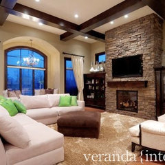 family room by Veranda Estate Homes &amp; Interiors