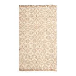 Safavieh - Albine Natural Fiber Rug, Natural / Ivory 3' X 5' - Construction Method: Hand Woven. Country of Origin: India. Care Instructions: Vacuum Regularly To Prevent Dust And Crumbs From Settling Into The Roots Of The Fibers. Avoid Direct And Continuous Exposure To Sunlight. Use Rug Protectors Under The Legs Of Heavy Furniture To Avoid Flattening Piles. Do Not Pull Loose Ends; Clip Them With Scissors To Remove. Turn Carpet Occasionally To Equalize Wear. Remove Spills Immediately. Hand-woven with natural fibers, this casual area rug is innately soft and durable. This densely woven rug will add a warm accent and feel to any home. The natural latex backing adds durability and helps hold the rug in place.