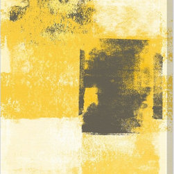 "The Oliver Gal Artist Co. - ""Remixed Purity"" Canvas Art - Put this abstract print anywhere you want high impact in a snap — perhaps above the living room sofa or at the end of an otherwise so-so hallway. Bold streaks of gray over a textured yellow background instantly breathe life into any space."