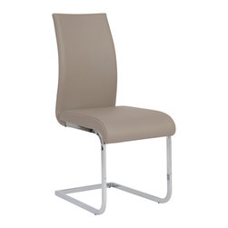 Eurostyle - Eurostyle Epifania Side Chair in Taupe & Chrome [Set of 4] - Side Chair in Taupe & Chrome belongs to Epifania Collection by Eurostyle Is this a very important meeting or do you have a lot of tall people in your office? Either way, the taller convex, vertical curve not only offers more support it brings a little gravitas to the room. Side Chair (4)