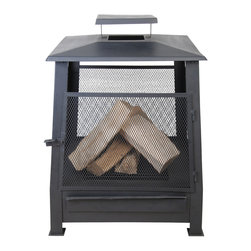 "Esschert Design - Pagoda Style Terrace Heater w/ Wire - Black Metal Pagoda Style Terrace Heater with Wire Mesh 23""x 23""x 31"""