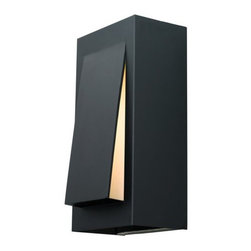 LBL Lighting - LBL Lighting Boardwalk Large Outdoor 60W 1 Light Outdoor Medium Wall Sconce - LBL Lighting Boardwalk Large Outdoor 60W 1 Light Outdoor Medium Wall SconceSleek and innovative, this stylish large outdoor wall sconce lets light out through an opal glass diffuser to create the perfect ambience. The included 60 watt medium base incandescent bulb creates the perfect amount of light for any outdoor application.LBL Lighting Boardwalk Large Outdoor 60W Features: