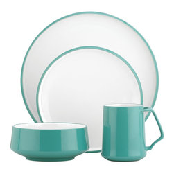 Dansk Kobenstyle 4-Piece Place Setting, Teal - Kobenstyle is being made again! This dinnerware in classic aqua is a must-have for any kitchen.