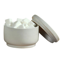 Luna Ceramic Bowl - Part of the Luna Collection, serve coffee and use this delightful bowl to carry sugar cubes in. Pair with the corresponding tray, pitcher and cup for a full set of beautifully simple matte white ceramic that blends seamlessly with any d�cor.