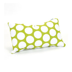 Majestic Home - Indoor Hot Green Large Polka Dot Small Pillow - Put some polka in your pillow party. You'll shake up solids and stripes with this bold dotted pattern, available in your choice of hot shades and classic black and white.