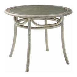 Modway Furniture - Modway Identify Dining Table in Gray - Dining Table in Gray belongs to Identify Collection by Modway Evoke rustic remembrances as you sip a leisurely tea or hearty breakfast. The disk-shaped Identify table is truly something out of this world. Made out of elm wood with a scratch resistant varnish coating, the piece conveys a modern feel while staying pleasant and unassuming. The table requires minimal assembly and is a pleasant addition to country cottages, rustic environs, or any urban dweller in search of a respite. Set Includes: One - Identify Dining Table Dining Table (1)