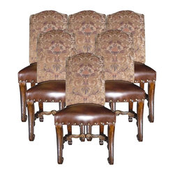 EuroLux Home - Set 6 Small Side Chairs Tuscan Distressed - Product Details
