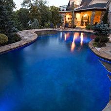 Contemporary Pool by J. Allen Designs