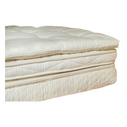 """Holy Lamb Organics - Holy Lamb Organics deep sleep Mattress Topper, Queen - DEEP SLEEP Wool Topper: This is a perfect choice for adding just a little more softness to your mattress, but not the full loft of The Ultimate Wool Topper. Hand tufted. Approximate loft 1.5 - 2 """""""