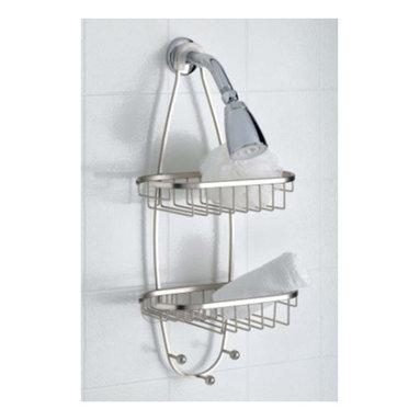 Taymor - Taymor Oval Shower Caddy with Three Hooks - Oval Shower Caddy with Three Hooks by Taymor