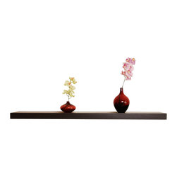 Welland - Chicago Floating Shelf, 60-Inch, Walnut - This extra-long version is perfect for restoring order to your home or office and will calm the nerves of organization addicts. The clean edges of this bracket-less shelf won't distract from whatever's on top, letting your treasures take center stage.