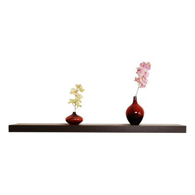 Welland - Chicago Floating Shelf, Walnut - This extra-long version is perfect for restoring order to your home or office and will calm the nerves of organization addicts. The clean edges of this bracket-less shelf won't distract from whatever's on top, letting your treasures take center stage.