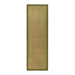 Safavieh - Safavieh Natural Fiber Casual Rug X-82-G411FN - Hand-woven with natural sea grass, this casual area rug is innately soft and durable. This densely woven rug will add a warm accent and feel to any home. The 100-percent Cotton canvas backing adds durability.