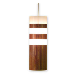 jefdesigns - Small Legna Pendant Lamp  Teak - Knock on wood. This pendant is more like a piece of sculpture than a light fixture. It has cool, minimalistic lines, yet a warm, inviting look. Hang multiples over your kitchen island or bar to point light in the right direction.