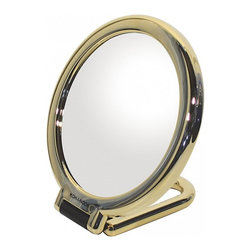 WS Bath Collections - Toeletta 387-3G Table Magnifying Mirror 3x in Gold - Toelleta 387-3G Table Magnifying Mirror in Gold