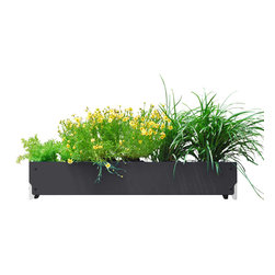 SHIFT_DESIGN - Bolton Long Planter, Matte Black - Outdoor Planter