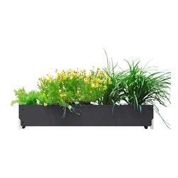 SHIFT_DESIGN - Bolton Long Planter, Matte Black - Outdoor Planter