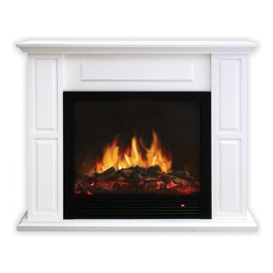 Yosemite Home Decor - Ceres - Free standing electric fireplace built into a beautiful eggshell finishmantel surround.  The ease of use makes this an extremely versatile option for zone heating and the realistic flame gives you the feel of a traditional fireplace.  Independent heat and flame controls allow for year round enjoyment.  Included remote control increase the ease of use.  Built in safety features turn the unit off should it be tipped over so you can rest peacefully knowing youre in good hands with Yosemite Home Decor.