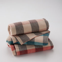 Vintage Wool Checked Throw Blanket - This vintage checked throw is soft and beautiful. The medium weight is perfect for keeping you warm on chilly nights.