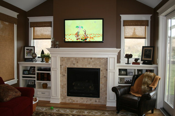 Traditional Family Room by Modern Design Cabinetry