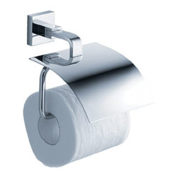 Kraus - Kraus Aura Toilet Tissue Holder with Cover - Add a touch of elegance to your bathroom with a stylish Tissue Holder from Kraus.