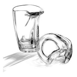 Arnolfo Di Cambio - Man-Tengolo Beer Glass - Perhaps the most uniquely designed beer glass that fits ergonomically into your hand between the thumb and index finger. This beautiful beer mug is mouth blown and hand cut by master glass-makers in Colle val d' Elsa, Tuscany. It is extremely sturdy and easy to hold, pleasing to the touch, and without a doubt makes the beer taste that much better! A perfect gift for the discerning beer drinker and also a great ushers gift at weddings.