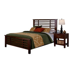 Home Styles - Home Styles Cabin Creek 3 Piece Bedroom Set in Chestnut Finish-Queen - Home Styles - Bedroom Sets - 54105019 - Our Cabin Creek collection conveys a reclaimed wood vintage feel.  Each piece is physically distressed by hand providing a unique one of a kind look.  The Cabin Creek 3 Piece Bedroom Set by Home Styles are constructed of mahogany solids and veneers in a multi-step chestnut finish. Set includes One (1) Bed One (1) Nightstand and One (1) Drawer Chest.