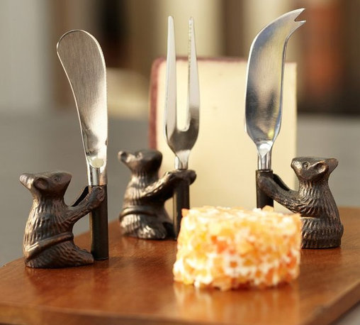 Cheese Board & Mouse Knives Set - A cheese board and knife set like this would cause every night to be one for entertaining! The darling mice and mango wood are shouting for Halloween festivities.