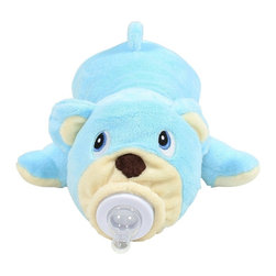 Bottle Pets - Bottle Pets, Blue Bear - Bottle Pets are stuffed animal baby bottle covers designed to make bottle feeding fun! These plush little animals help babies bottle feed by giving them something soft to hold. Bottle Pets are also fun to play with even when it's not meal time! They're great absolutely any time.