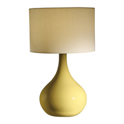 Crestview Collection - Crestview Collection CVAP1340B Cabot Yellow Table Lamp - Crestview Collection CVAP1340B Cabot Yellow Table Lamp