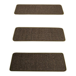 """Natural Area Rugs - """"Encore"""" Sisal Carpet Stair Treads, 100% Natural Sisal, 9"""" x 29"""" (Set of 13) - All natural, hand crafted by Artisan rug maker. Carpet stair treads adds a bit of fashion to any staircase. They are also a great addition to any house with small children. Not only do carpet stair treads reduce noise on staircase but add traction therefore preventing you or your family members from tripping or falling down the stairs. Variations are part of the natural beauty of natural fiber."""