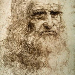 Wallmonkeys Wall Decals - Fine Art Murals Self-portrait by Leonardo Da Vinci  - 24 Inches H - Easy to apply - simply peel and stick!
